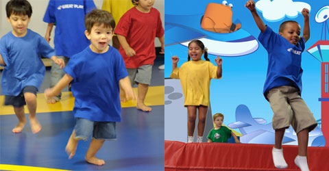 Run-To Game (left) and Obstacle Course (right)